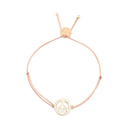 Armband Peace groß vergoldet