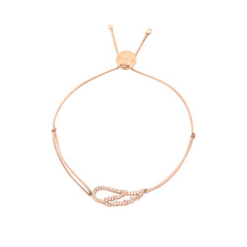 Armband Engelsflügel mit Zirkonia Steinen rosé vergoldet