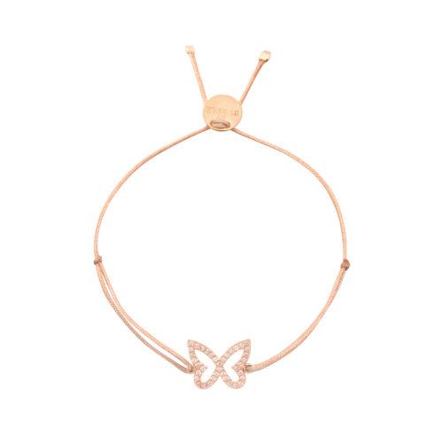 Armband Schmetterling mit Zirkonia Steinen rosé vergoldet