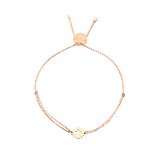 Armband Mini mit Kleeblättchen vergoldet