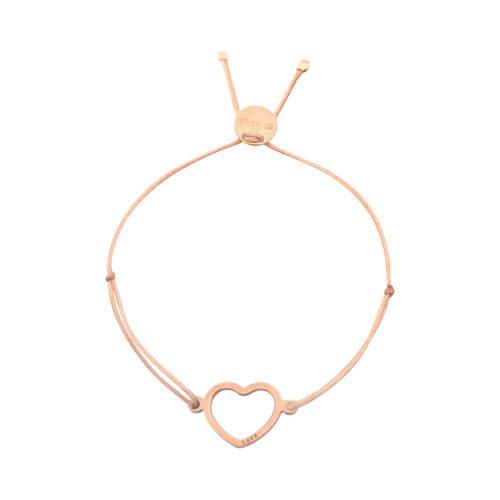 """Armband Herz offen mit Gravur """"Love"""" rosé vergoldet"""