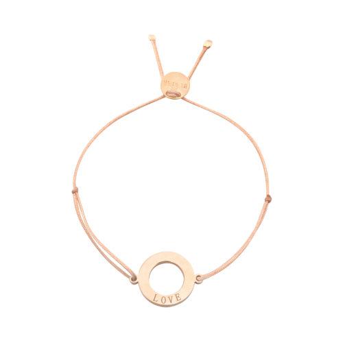"Armband Ring mit Gravur ""Love"" rosé vergoldet"