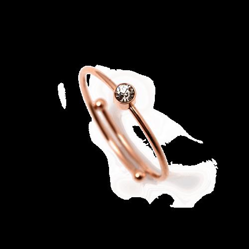 Ring mit kleinem Zirkonia Stein