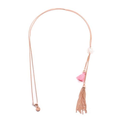 Halskette lang mit Ornament und Quaste