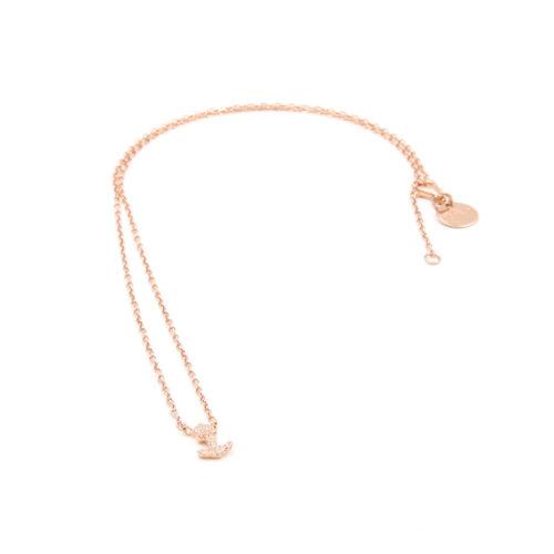 Halskette kurz Anker mit Zirkonia Steinen