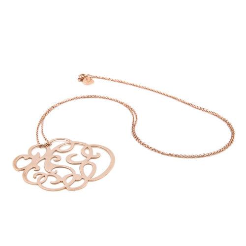 Halskette lang mit großem Ornament<br />