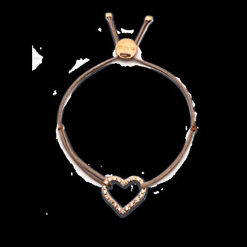 Armband Herz mit feinen Zirkonia Steinen rosé vergoldet
