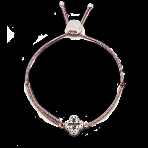 Armband Kleeblatt klein mit Zirkonia Steinen Silber