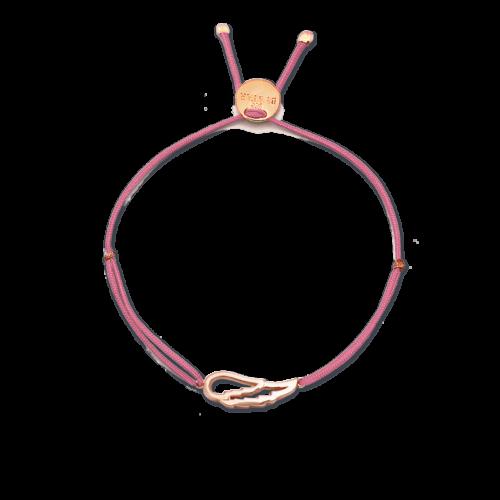 Armband Engelsflügel rosé vergoldet<br />