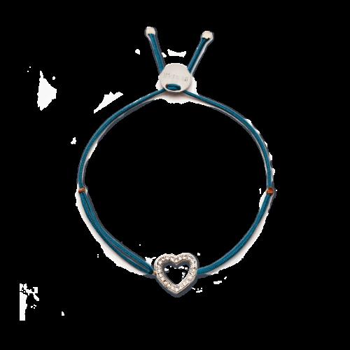 Armband Herz mit feinen Zirkonia Steinen Silber