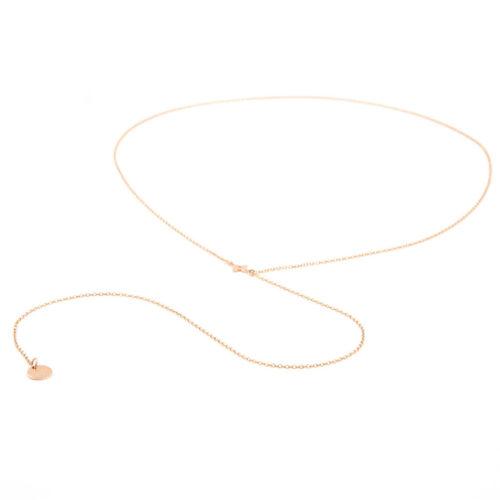 Halskette Y lang mit Herz oder Blümchen