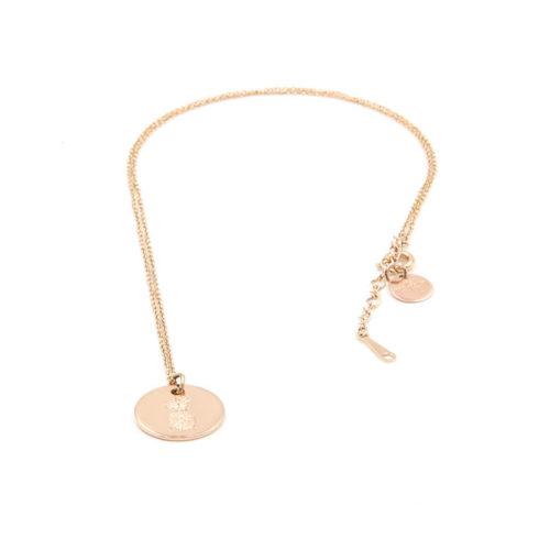 Halskette Plättchen ø 1,5 cm