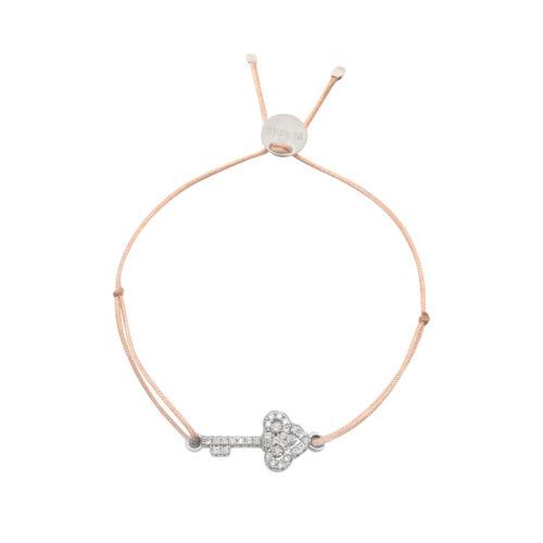 Armband kleiner Schlüssel mit Zirkonia Steinen Silber