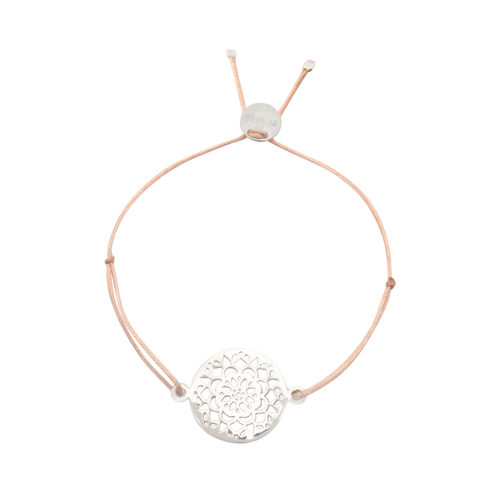 Armband Ornament rund Silber<br />