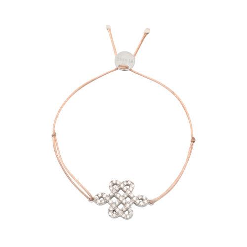 Armband Knoten mit Zirkonia Steinen Silber