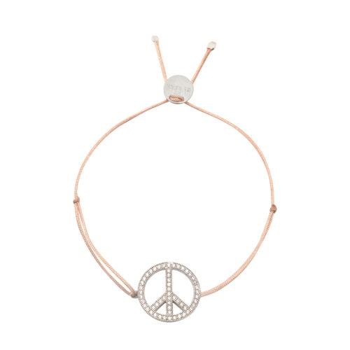Armband Peace groß mit feinen Zirkonia Steinen Silber