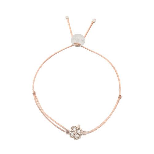 Armband Kleeblatt mini mit Zirkonia Steinen Silber