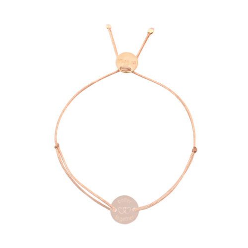 "Armband Plättchen rund gestanzt ""better together"" rosé vergoldet"