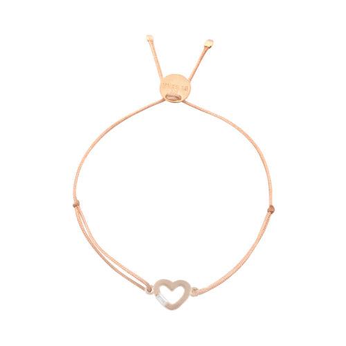 Armband Herzchen offen mit Steinchen rosé vergoldet