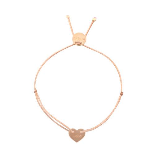 "Armband Herz gestanzt ""Liebe"" rosé vergoldet"