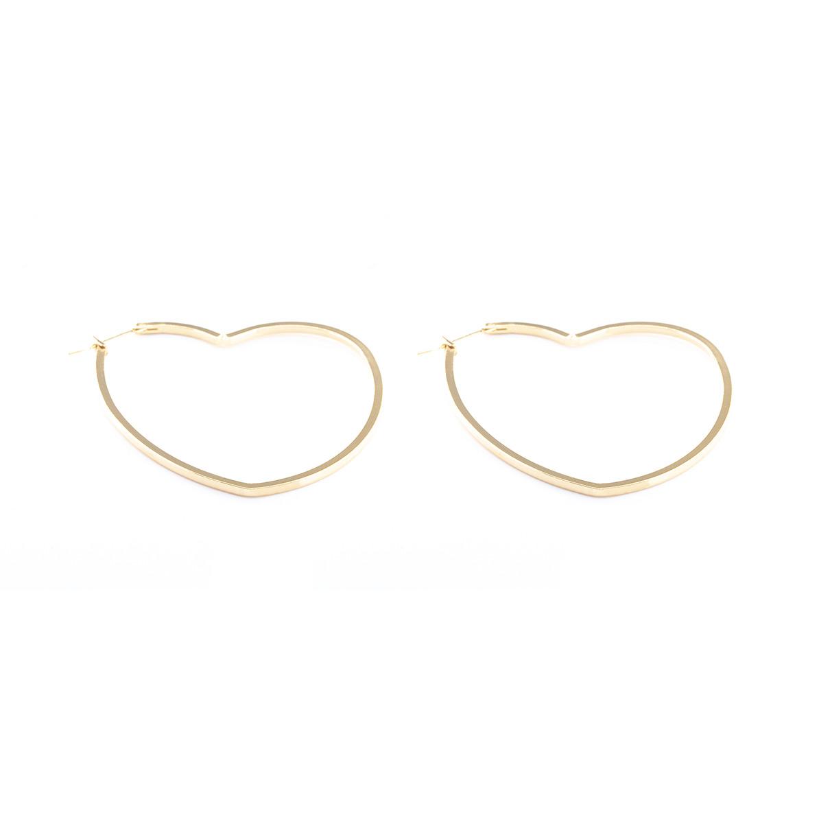 Ohrringe Herz groß vergoldet
