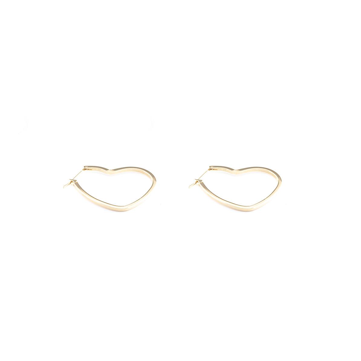 Ohrringe Herz klein vergoldet